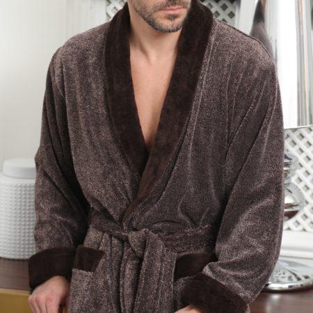 Cezar (шоколад) классический мужской халат