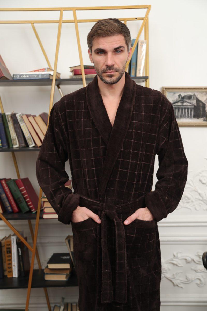 Clemento (шоколад) классический бамбуковый халат