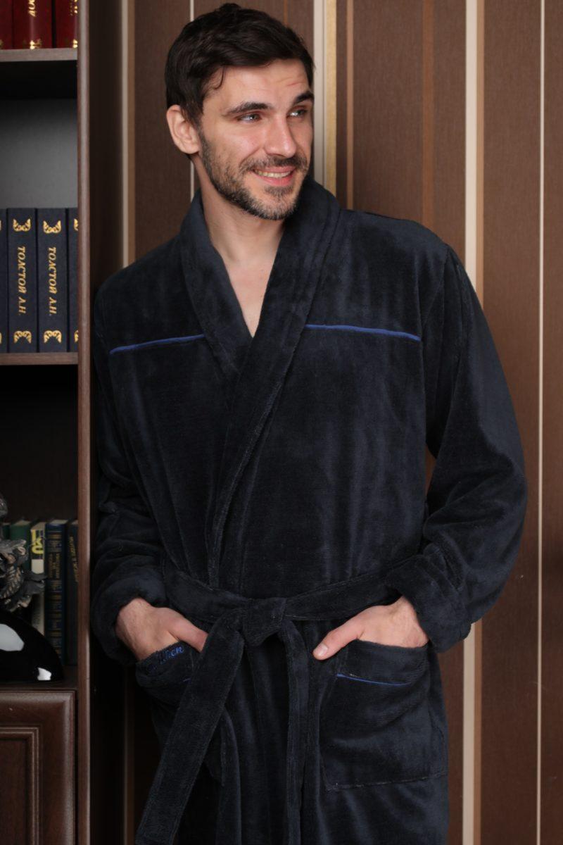 DOLCE (антрацит) классический мужской халат