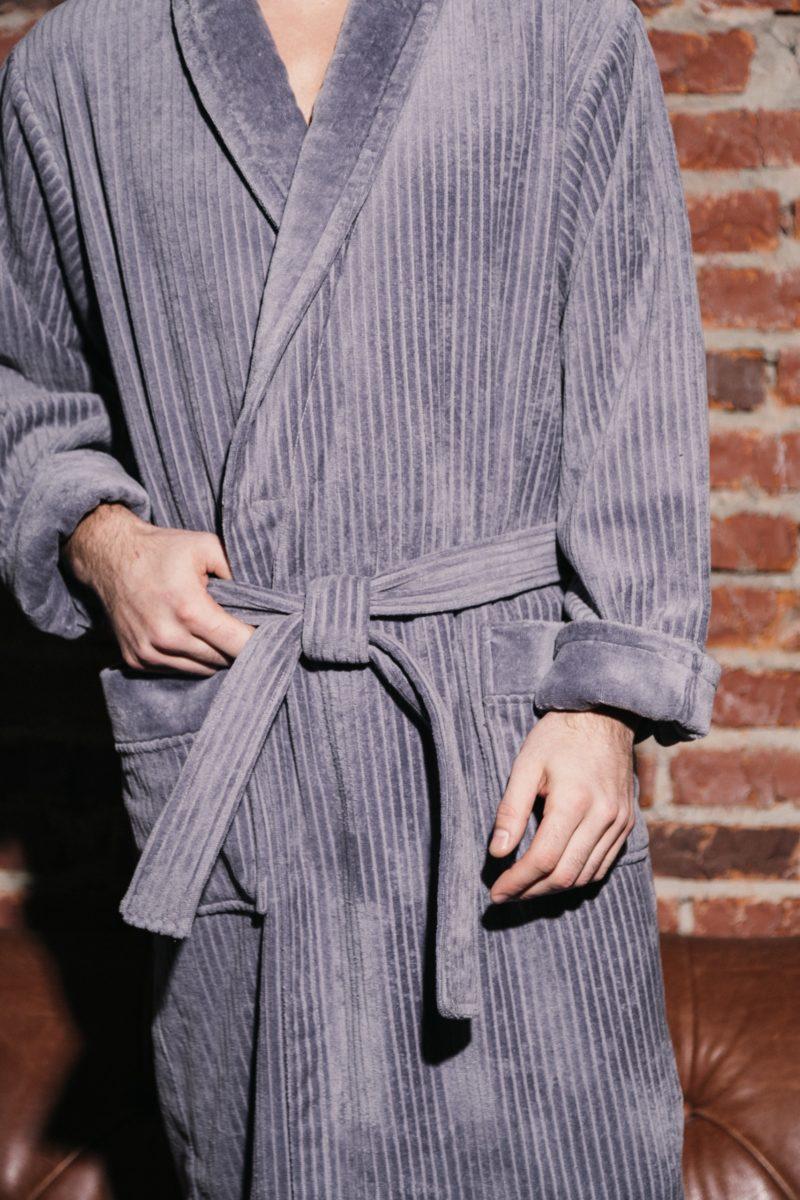 Imperator (Серый) классический мужской халат