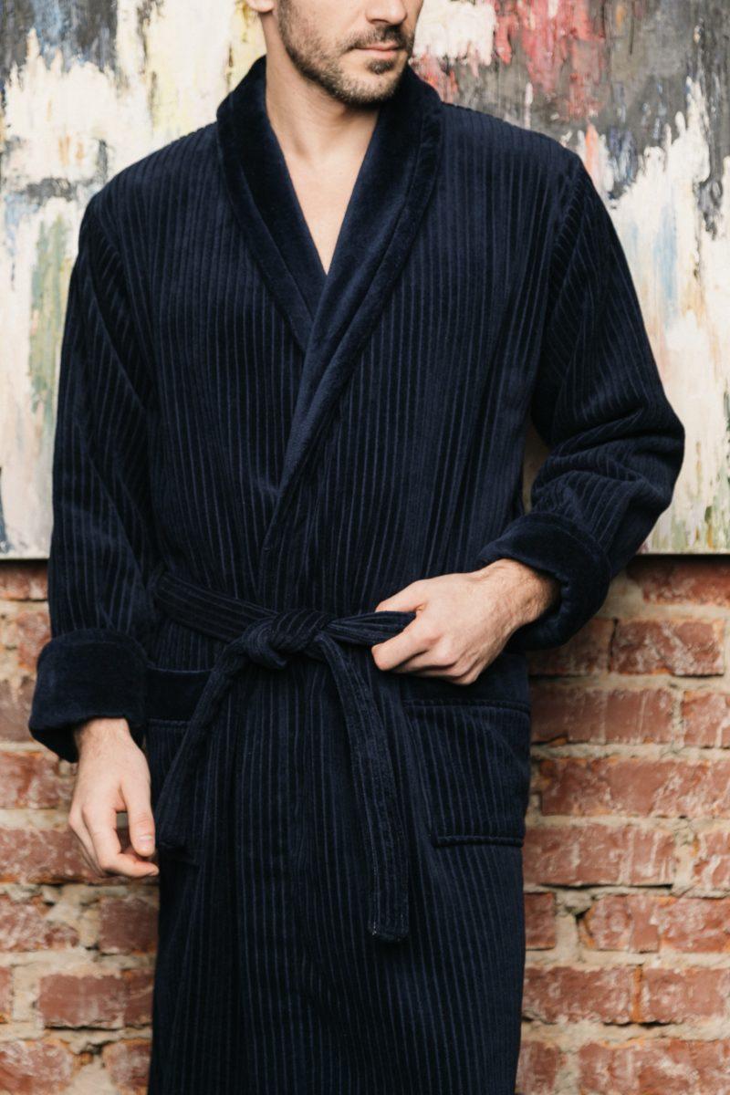 Imperator (Синий) классический мужской халат