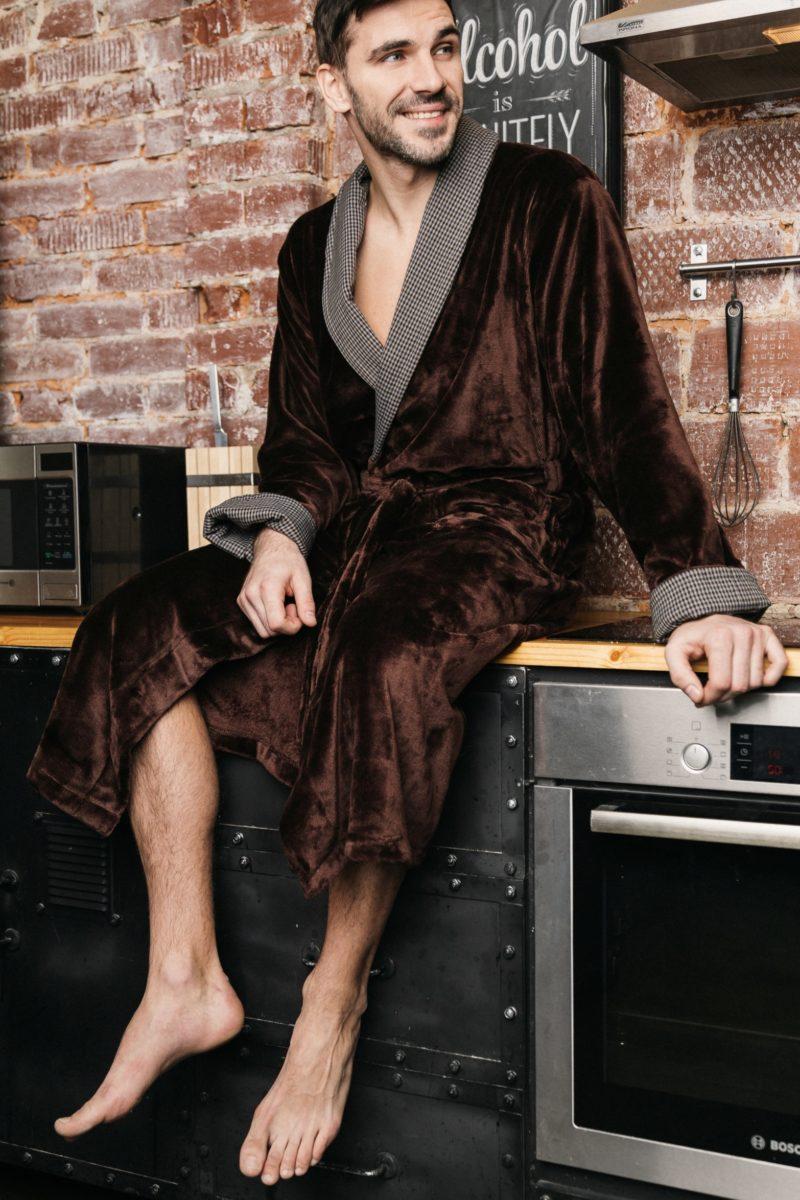 Manhattan (Шоколад) классический мужской халат