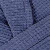 Халат вафельный ALERON (синий)