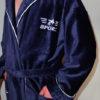 Спортивный мужской махровый халат с капюшоном NEW SPORT (бордовый)