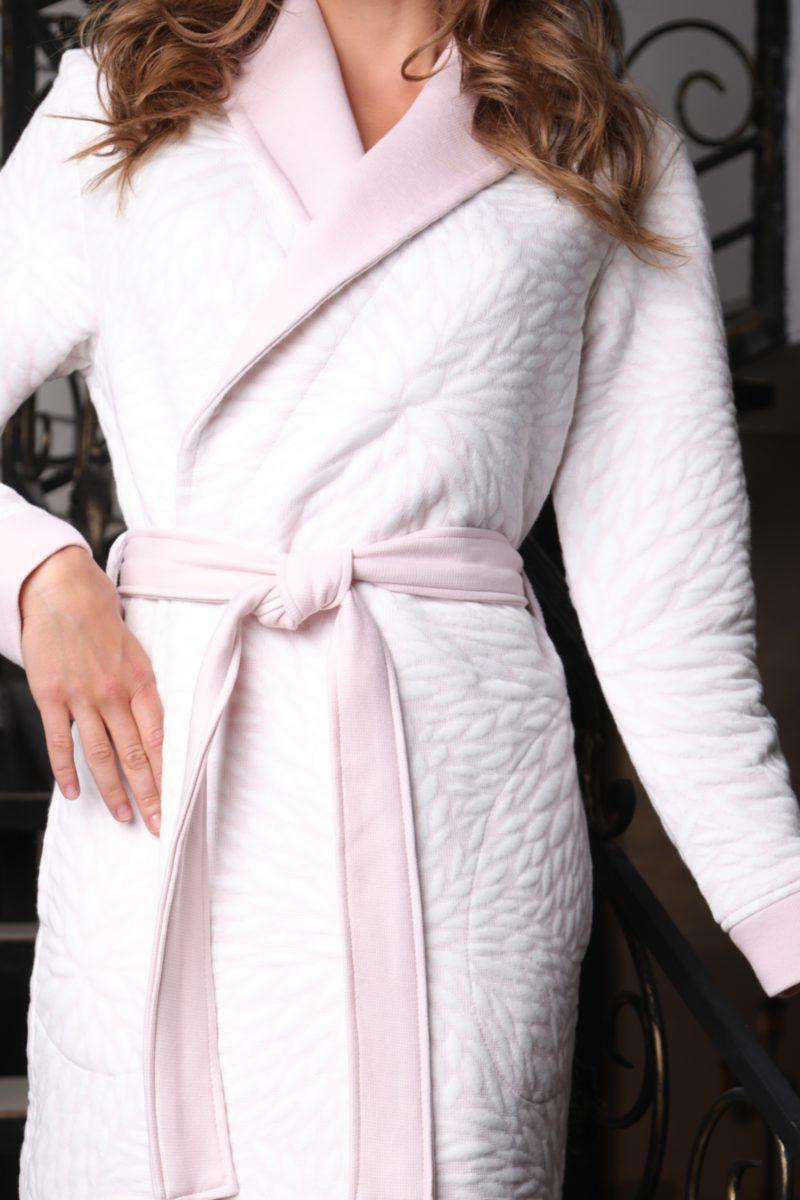 Beatrice (фламинго) женский бамбуковый халат