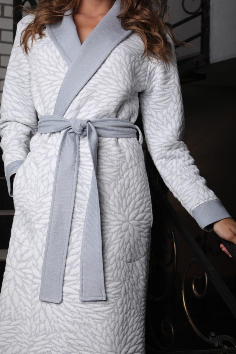 Beatrice (серебро) женский бамбуковый халат
