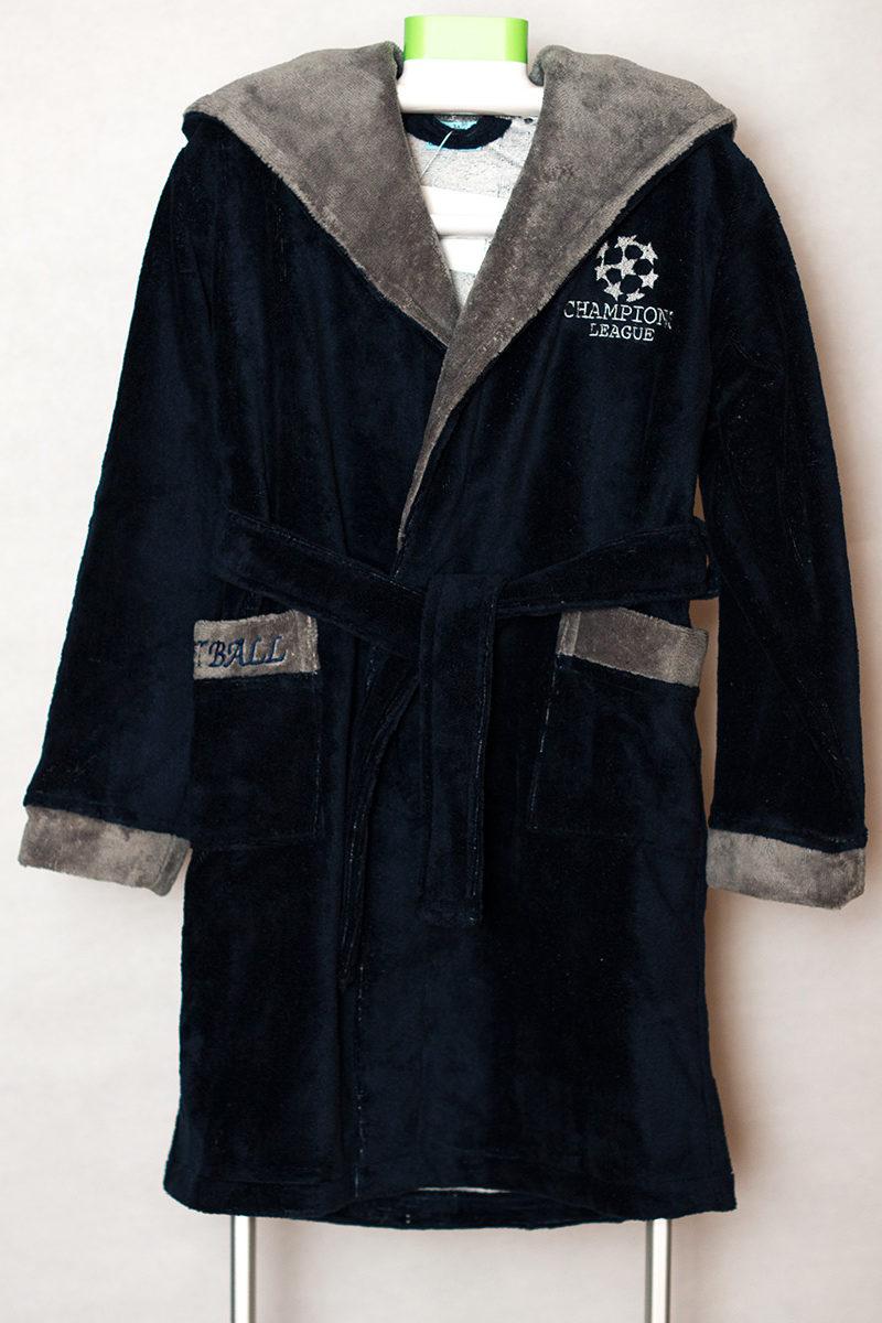 Детский бамбуковый халат Boys 2 (синий)