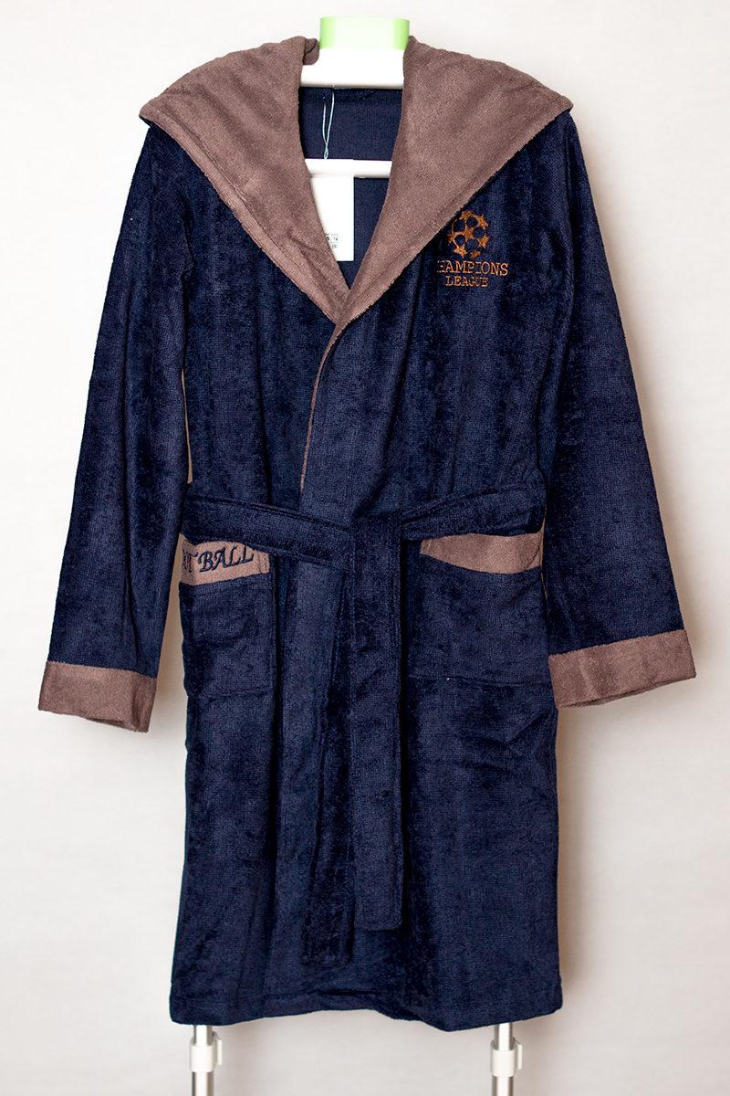 Детский бамбуковый халат Boys (синий)
