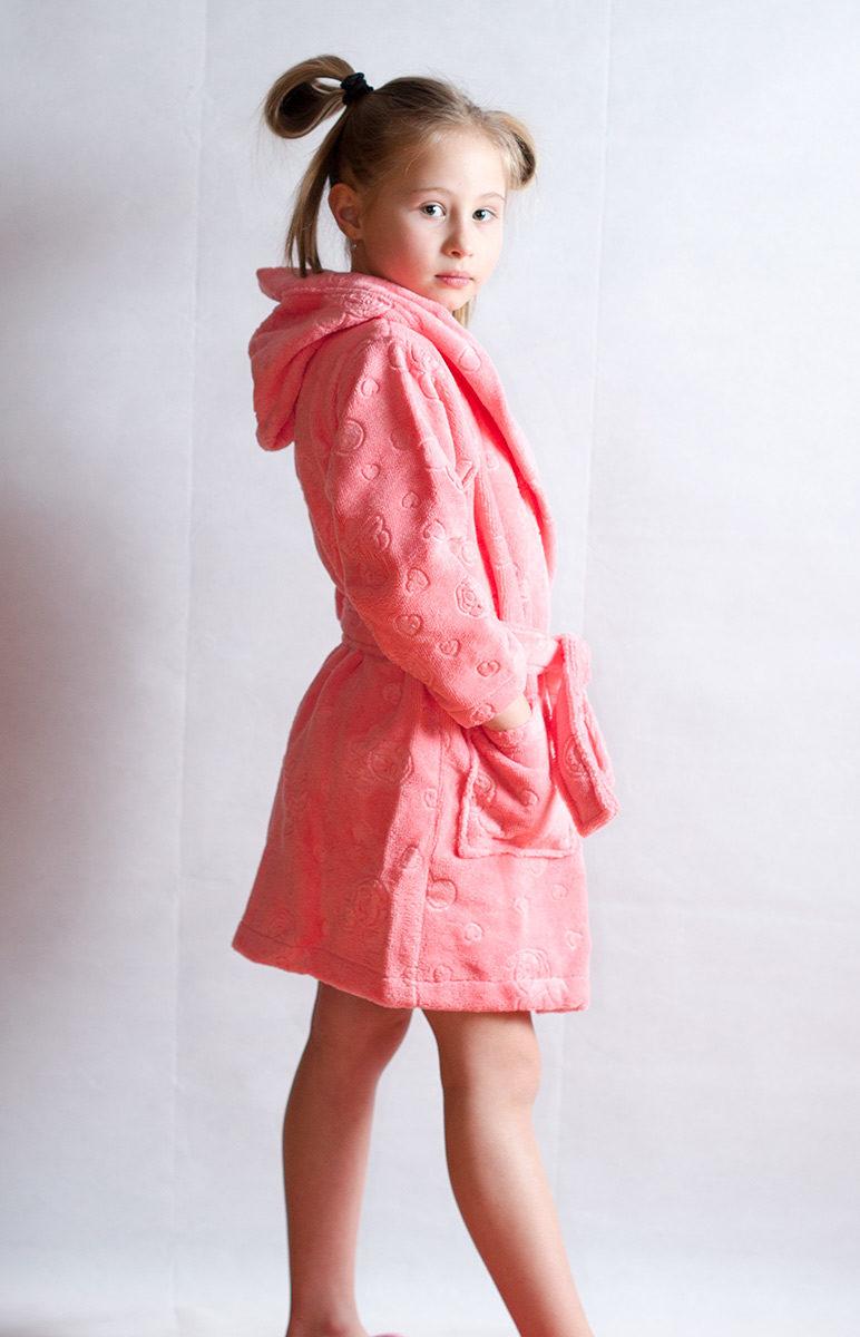 Детский махровый халат MIKKI (коралл) NUSA