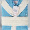 Детский махровый халат с капюшоном 6589
