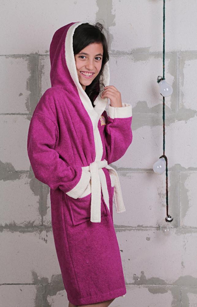 Детский махровый халат с капюшоном 6599
