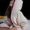 Детский махровый халат с капюшоном 6609