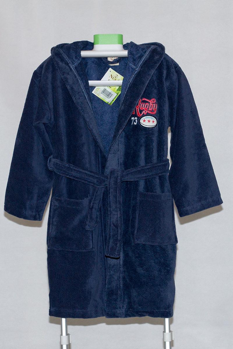 Детский махровый халат с капюшоном REGBI (джинс), NUSA, Турция
