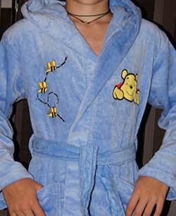 Детский махровый халат Винни