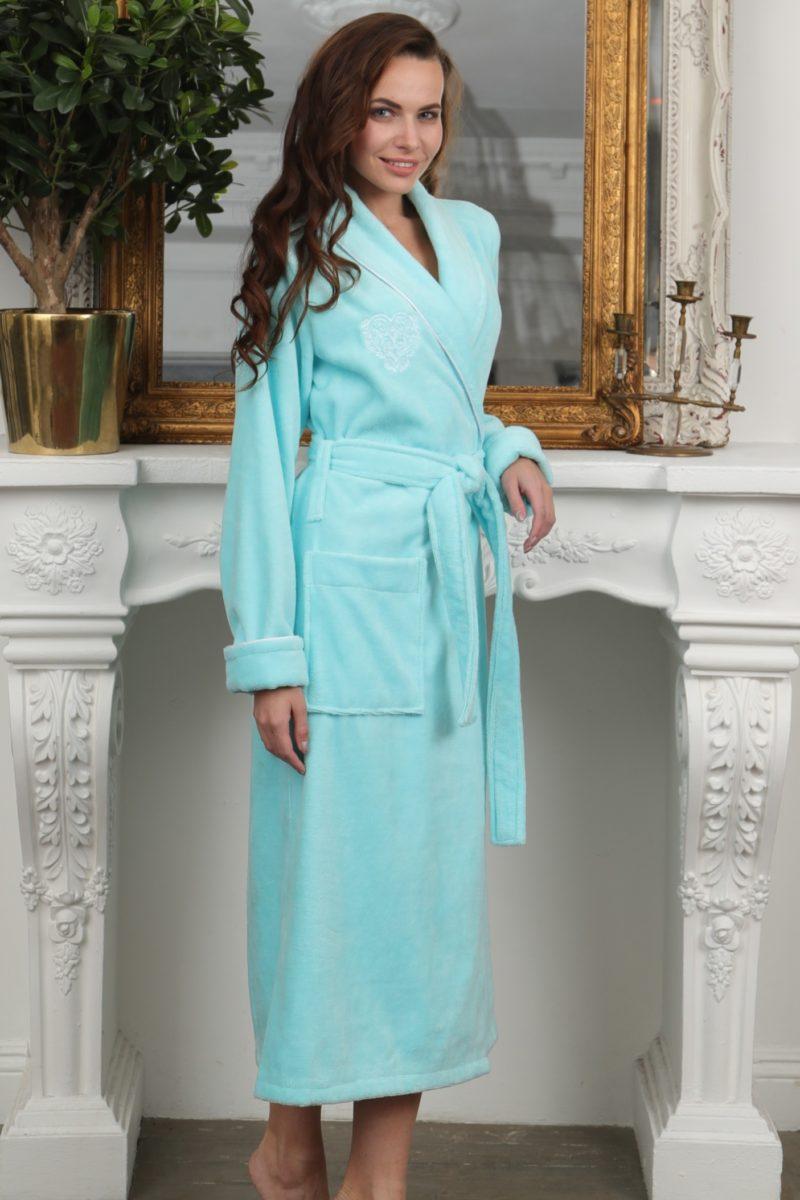 FELICHE (бирюза) махровый женский халат