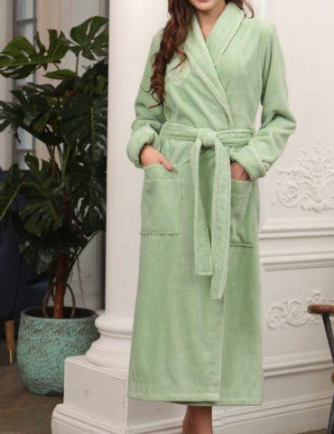 FELICHE (фисташка светлая) махровый женский халат