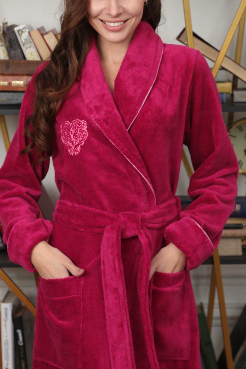 FELICHE (бургунди) махровый женский халат