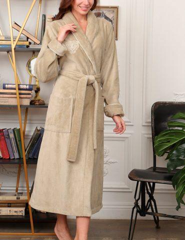 FELICHE (фисташка темная) махровый женский халат