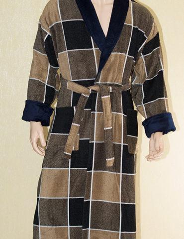 Классический мужской махровый халат JAKARD (AT-23)