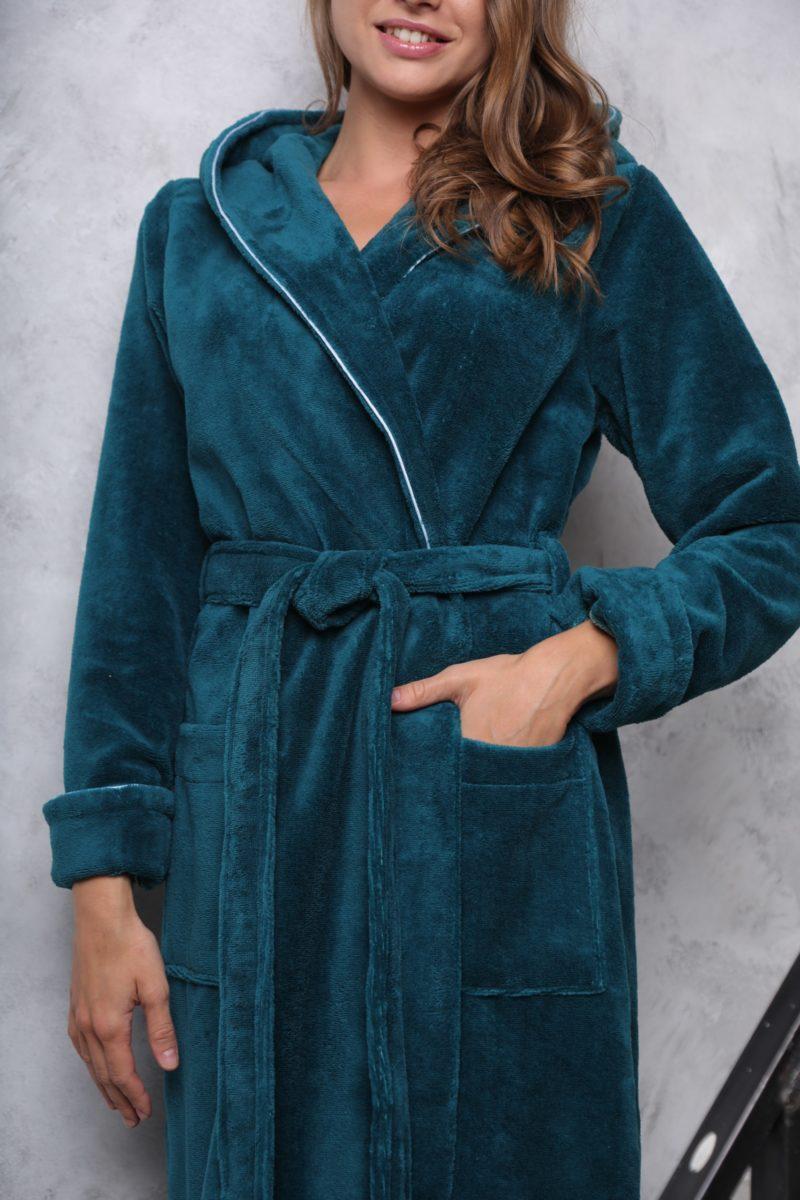 Leticia(изумруд) женский махровый халат