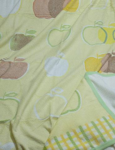 Махровая простынь - APPLE 180х220 см (желтый)