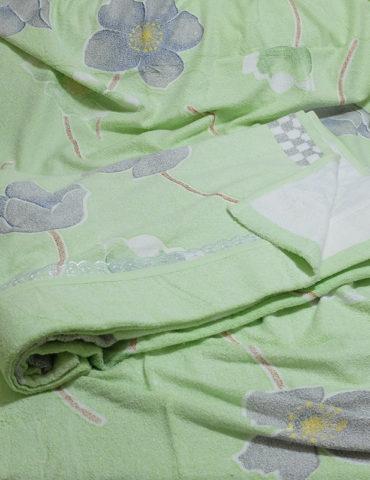 Махровая простынь - Фиалка 180х220 см (зеленая)