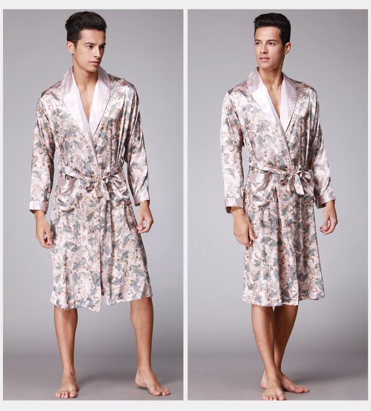 Мужской шелковый халат V1