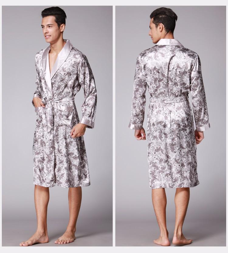 Мужской шелковый халат V3