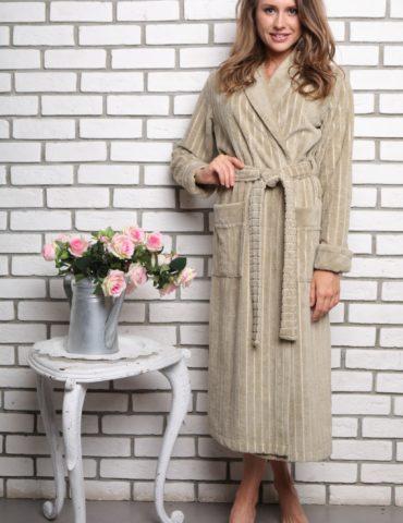 Sharliz (фисташка) женский бамбуковый халат