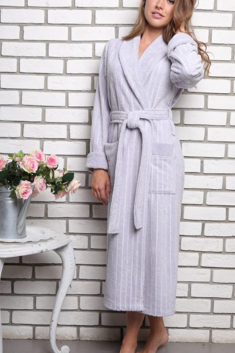 Sharliz (серебро) женский бамбуковый халат