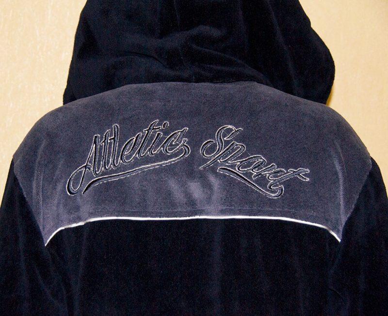 Спортивный мужской махровый халат Atletic Sport (темно-синий)