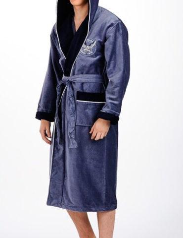 Спортивный мужской махровый халат Eagle, NUSA, Турция
