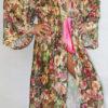 Женский халат из гипюра (зеленый)
