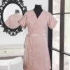 Женский махровый халат кимоно RITA Pudra