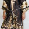 Женский шелковый халат Sharm (коричневый)