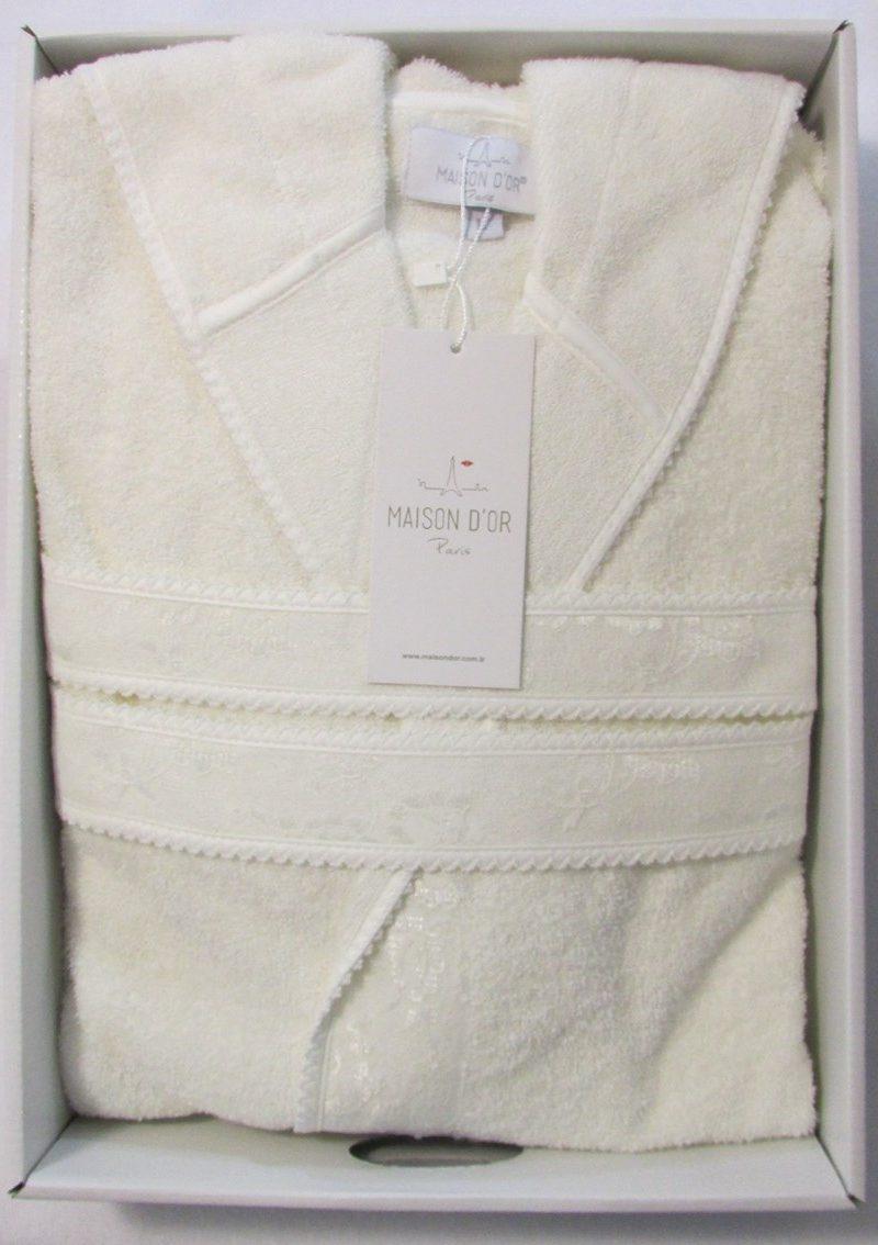 Бамбуковый халат с капюшоном Vassago (кремовый)