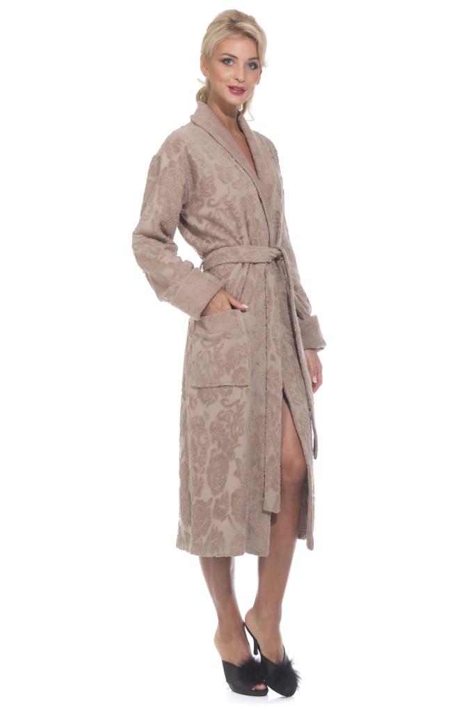 Casharel махровый халат (темно-бежевый)