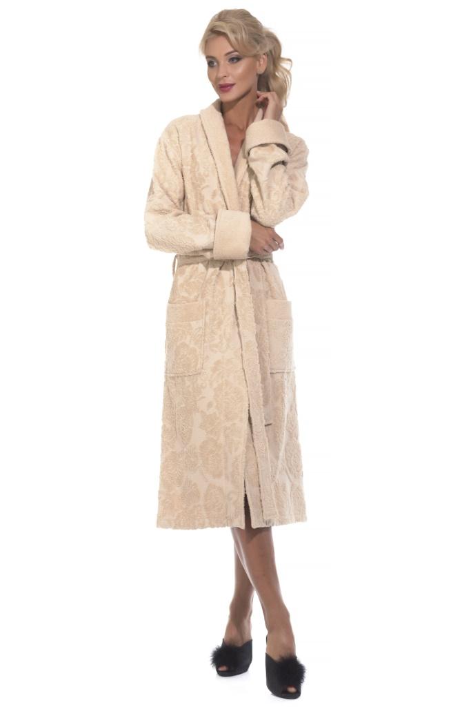 Casharel махровый халат (бежевый)