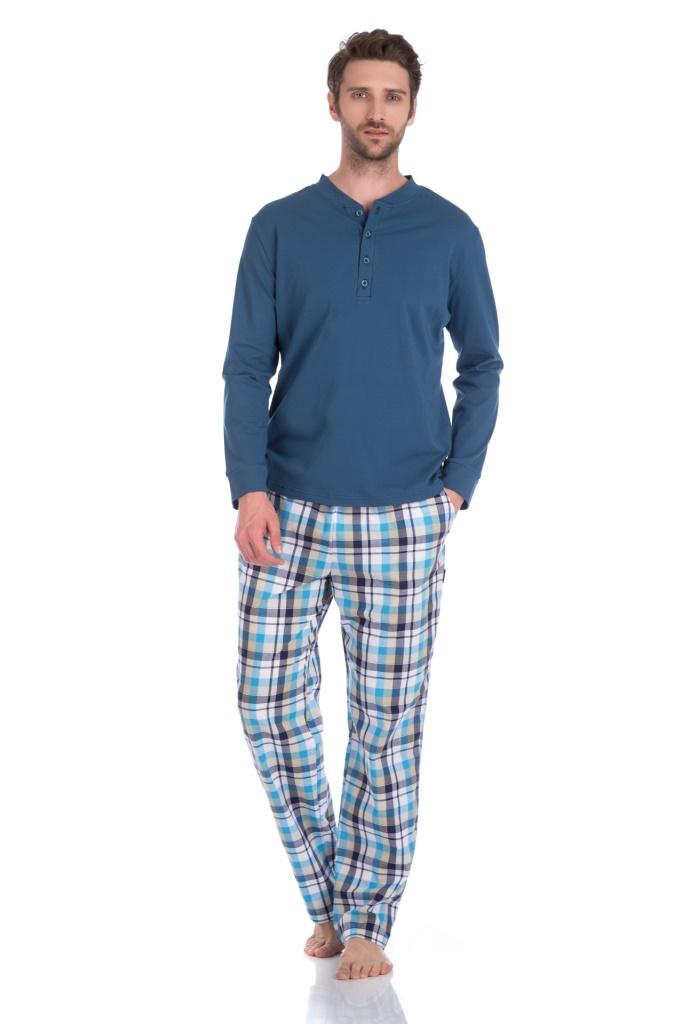 Домашний костюм - пижама BOSS (синий комбинированный) 27