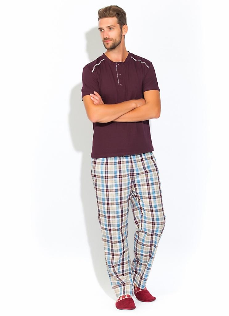 Домашний костюм - пижама BOSS (темно-сливовый)