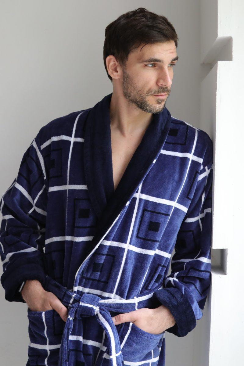 Классический длинный мужской халат Cotton Lux (505)