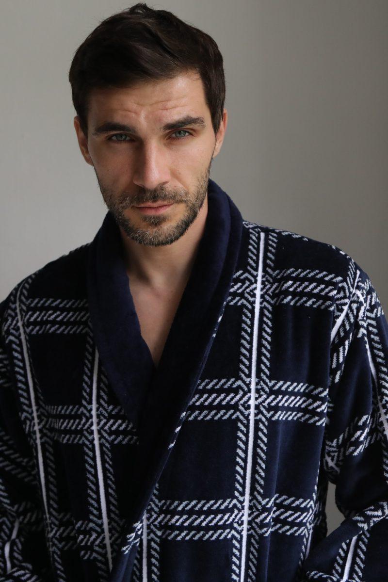 Классический длинный мужской халат Cotton Lux (508)