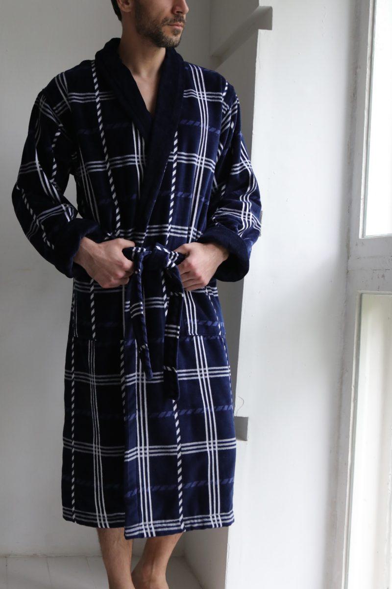 Классический длинный мужской халат Cotton Lux (520)