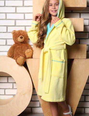 Mimi подростковый халат (желтый)