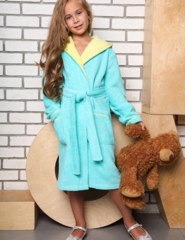 Mimi подростковый халат (бирюза)