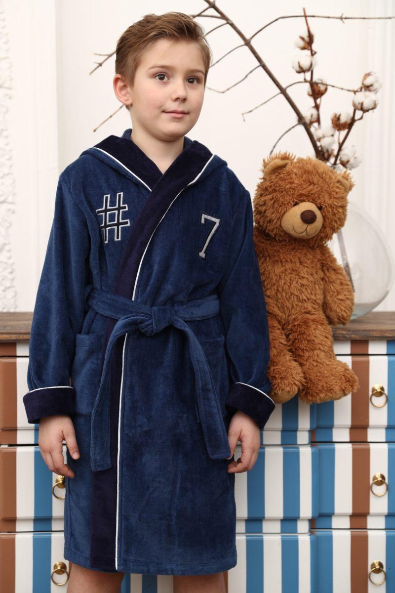 SEVEN спортивный подростковый халат (джинс)