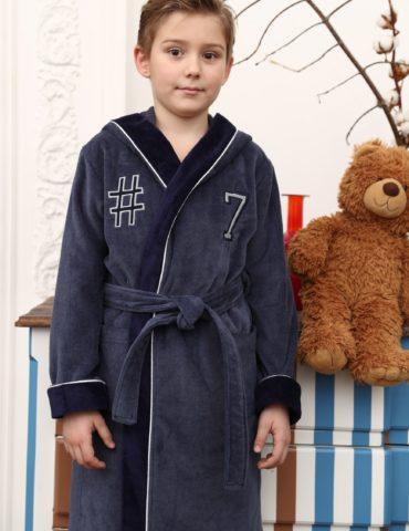 SEVEN спортивный подростковый халат (серый)