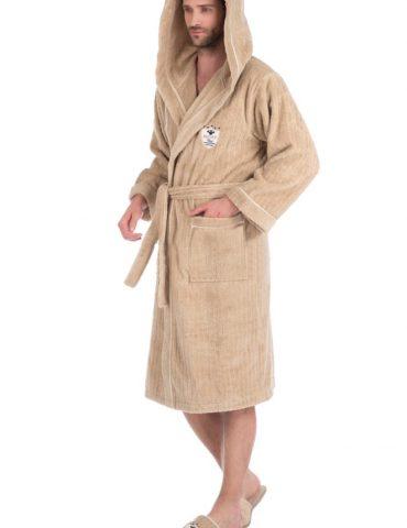 Махровый халат с тапочками Rodolphe (Рудольф) - бежевый