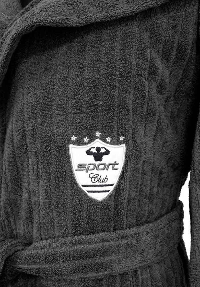 Махровый халат с тапочками Rodolphe (Рудольф) - серый