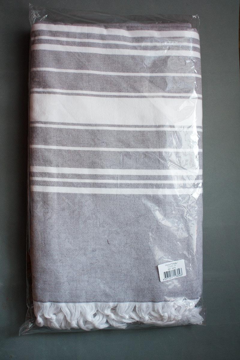 Пештемаль - полотенце для бани и сауны PESTEMAL (серый)